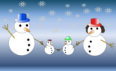 Snowman familly