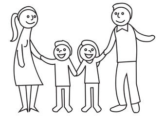 Familie - Eltern und Kinder