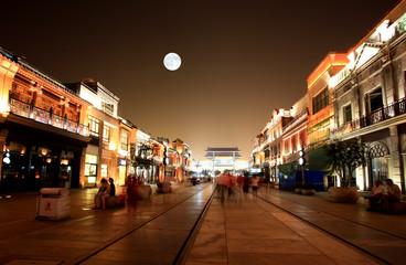 Door stickers Beijing newly re-constructed Qianmen shopping district in Beijing