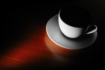 cup in dark