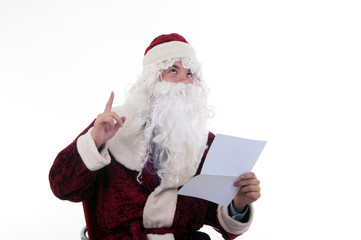 santa reads the letter