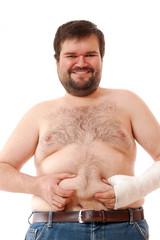 cheerful big man