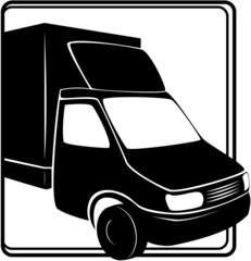 Truck (icon). Element for design vector illustration.