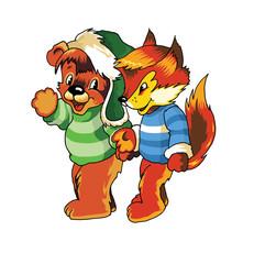 Teddy bear and fox