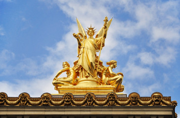 Sculpture on the opera garnier paris