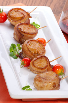 Bacon-Wrapped Ginger Soy Scallops
