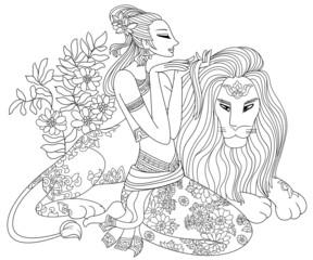 Leo or Lion Twelve Zodiac