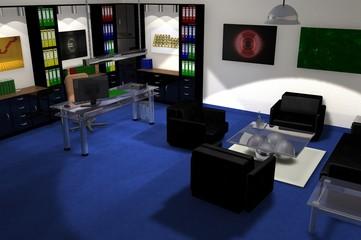 Chefbüro mit Sitzecke