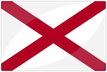 drapeau glassy alabama flag