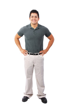 Confident Young Man Worker Standing