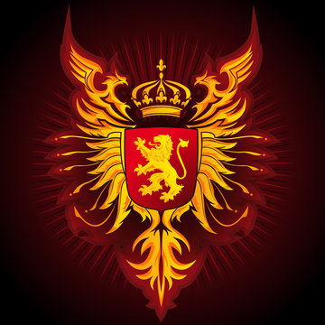 Coat of Arms 04 - Lion and Eagles