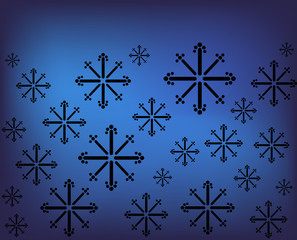 Snowflakes, vector background