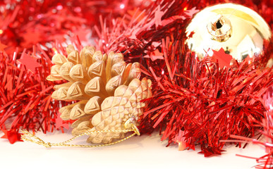 christmas decoration with garland