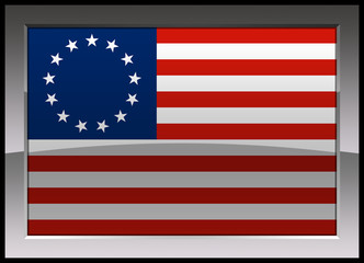 Flag of United States of America (1776-1795)