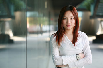 young asian business women at office