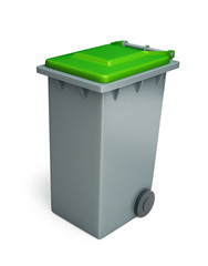 recycling basket green