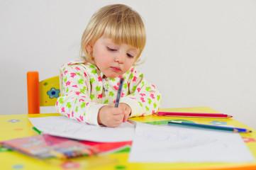 malen und zeichnen mit Bundstiften