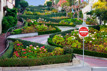 Fotobehang San Francisco Lombard Street in San Francisco