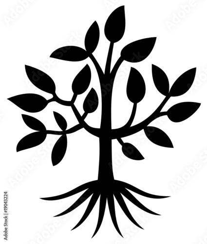 arbre tree silhouette dessin illustration vecteur fichier vectoriel libre de. Black Bedroom Furniture Sets. Home Design Ideas