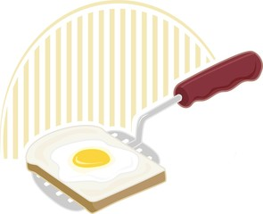 Illustration of kitchen tool with colour