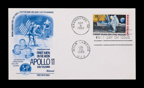 first day of issue apollo 11 moon landing envelope