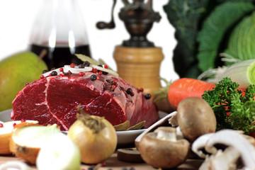 Rehbraten - Wildfleisch, Rehfleisch, Rotwild