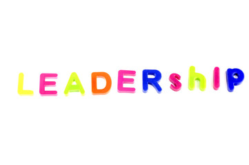 Word Leadership From Plastic Toys Letters