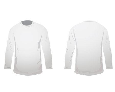 white long sleeved t shirt