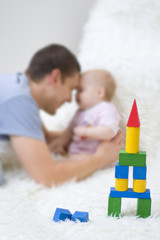 Father playing with child