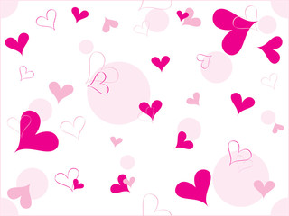 romantic pattern wallpaper illustration