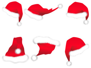 Different Santa hats