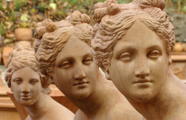 italian terracotta statues, Impruneta, Tuscany