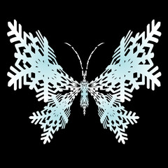 Butterfly. Vector.