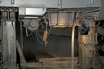 Produzione della carta: dettaglio macchina continua