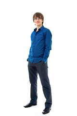 Young man in shirt and trousers