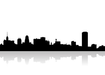 buffalo city skyline vector