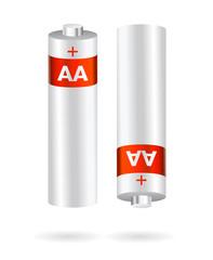 alcaline aa batteries vector