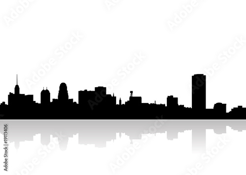 buffalo city skyline vector stock image and royalty free vector