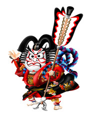 歌舞伎ー矢の根のキャラクター001