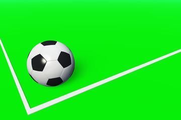 Fußball am Spielfeldrand