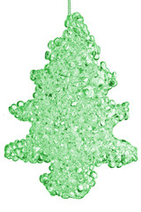 Glass textured  xmas tree ornament