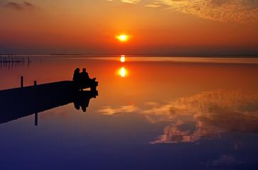 Fotorolgordijn Pier amor en la naturaleza