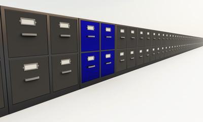 Long Database - black & blue