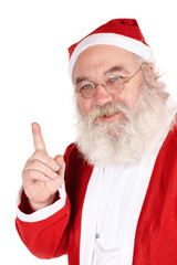 Weihnachtsmann mit erhobenen Finger