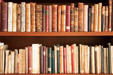 Door stickers Library Libri antichi su scaffale