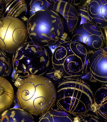 a christmas balls background