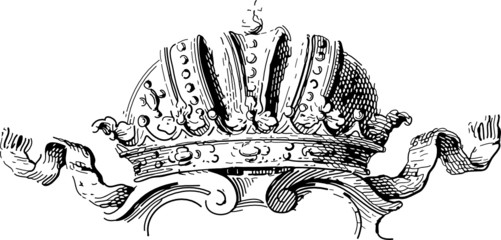 old crown ornament