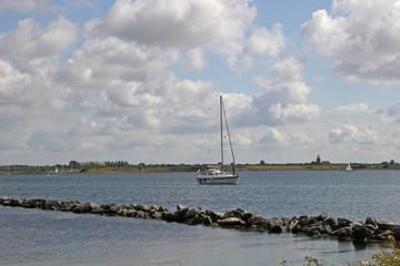 yacht on lake