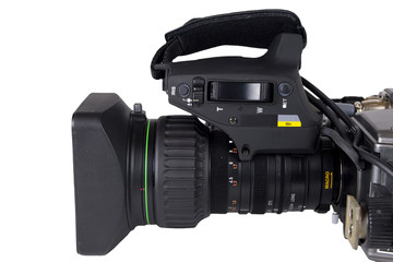 Pro Video camera lens isolated