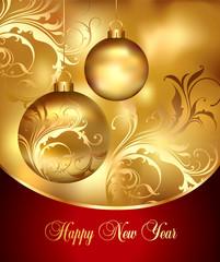 Holiday card. Christmas, New Year